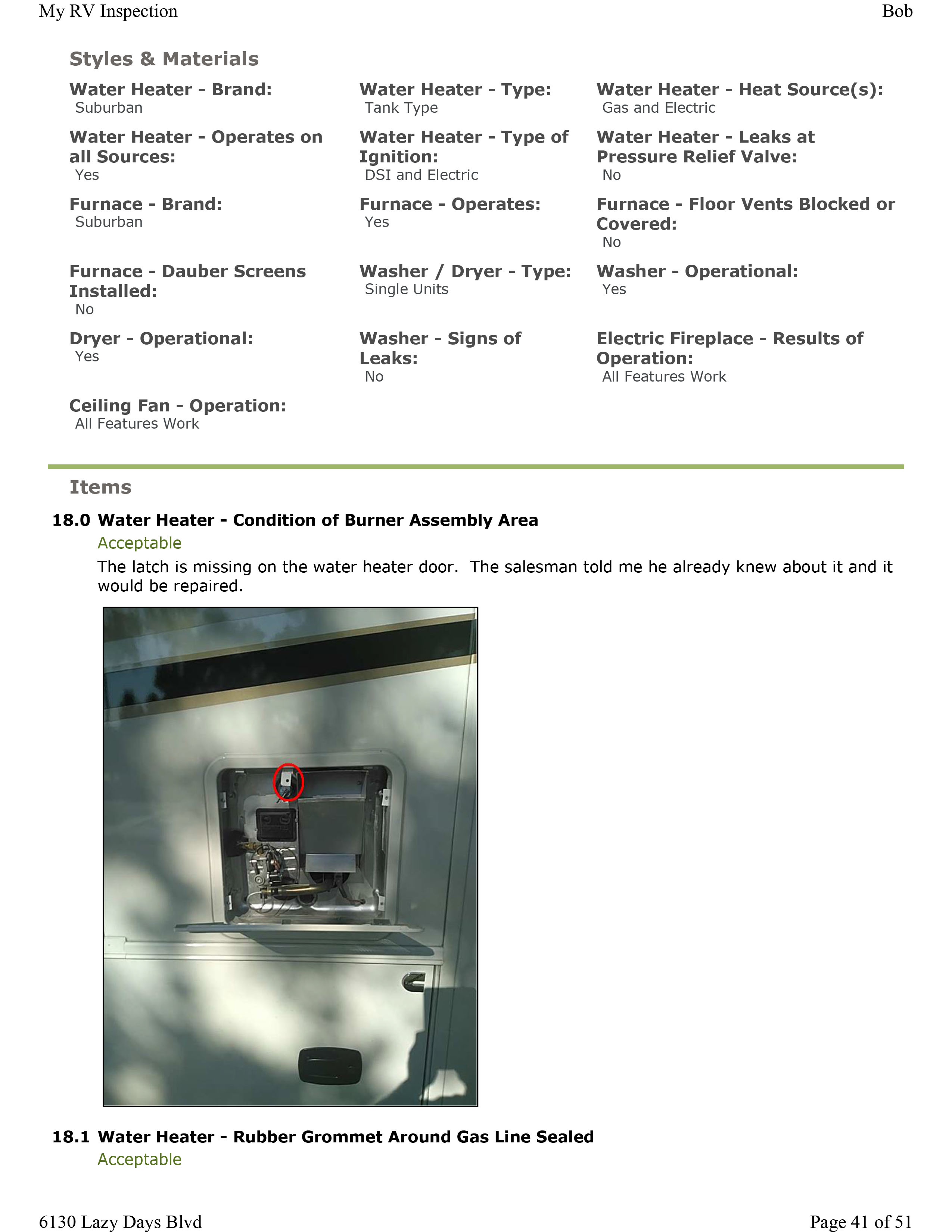 Home Guage Repair Info Water Heater My Rv Inspection